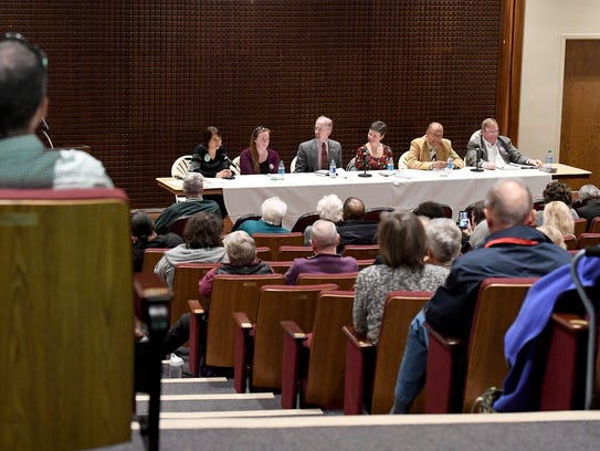 School board candidates answer questions from the audience