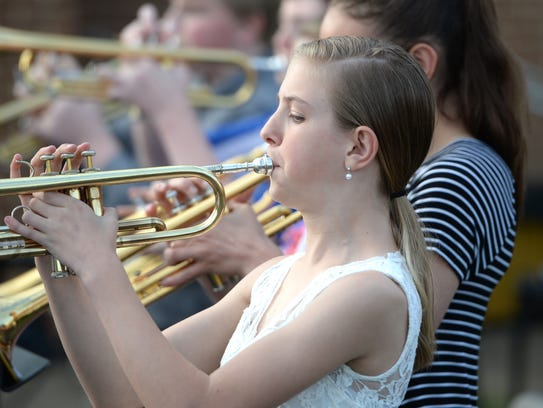 Marissa Powell played trumpet as part of Stewart Middle