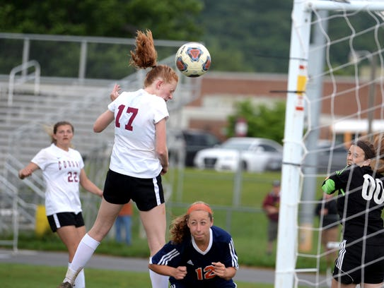 Stuarts Draft's Hannah Chatterton tries to head the