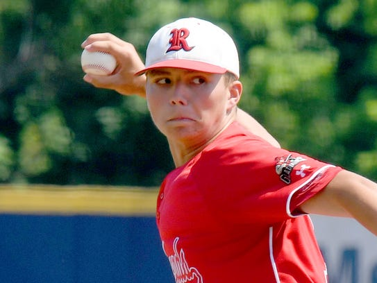 Riverheads' Casey Butler delivers a pitch in the fourth