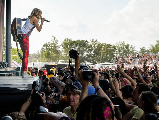 Sheryl Crow performs during the Bonnaroo Music and