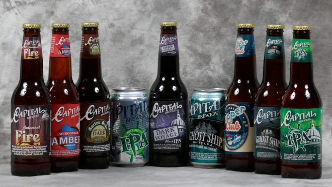 Capital Brewery beer styles range from its flagship amber to German lagers to IPAs.