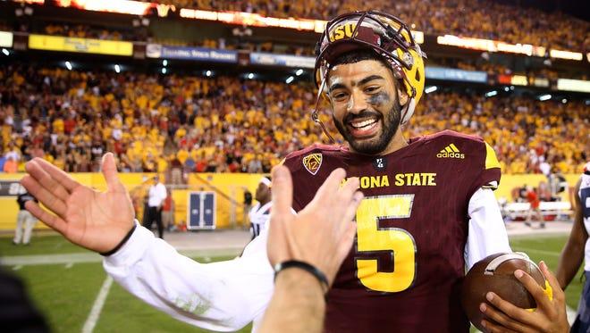 Arizona State quarterback Manny Wilkins.