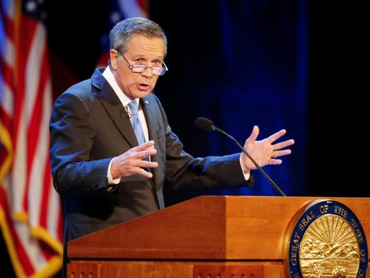 FILE – In this April 4, 2017, file photo, Ohio Gov.