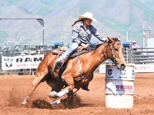 Dixie's McKenna McAllister will compete for the state title in barrel racing.