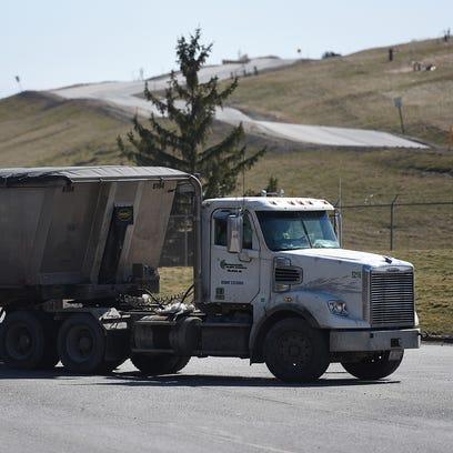 A truck heads into Washtenaw County's Advance Disposal