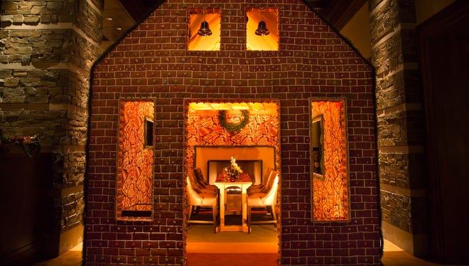 The front of the dine-in gingerbread house at the Dove Mountain Ritz Carlton in Tucson in 2015.