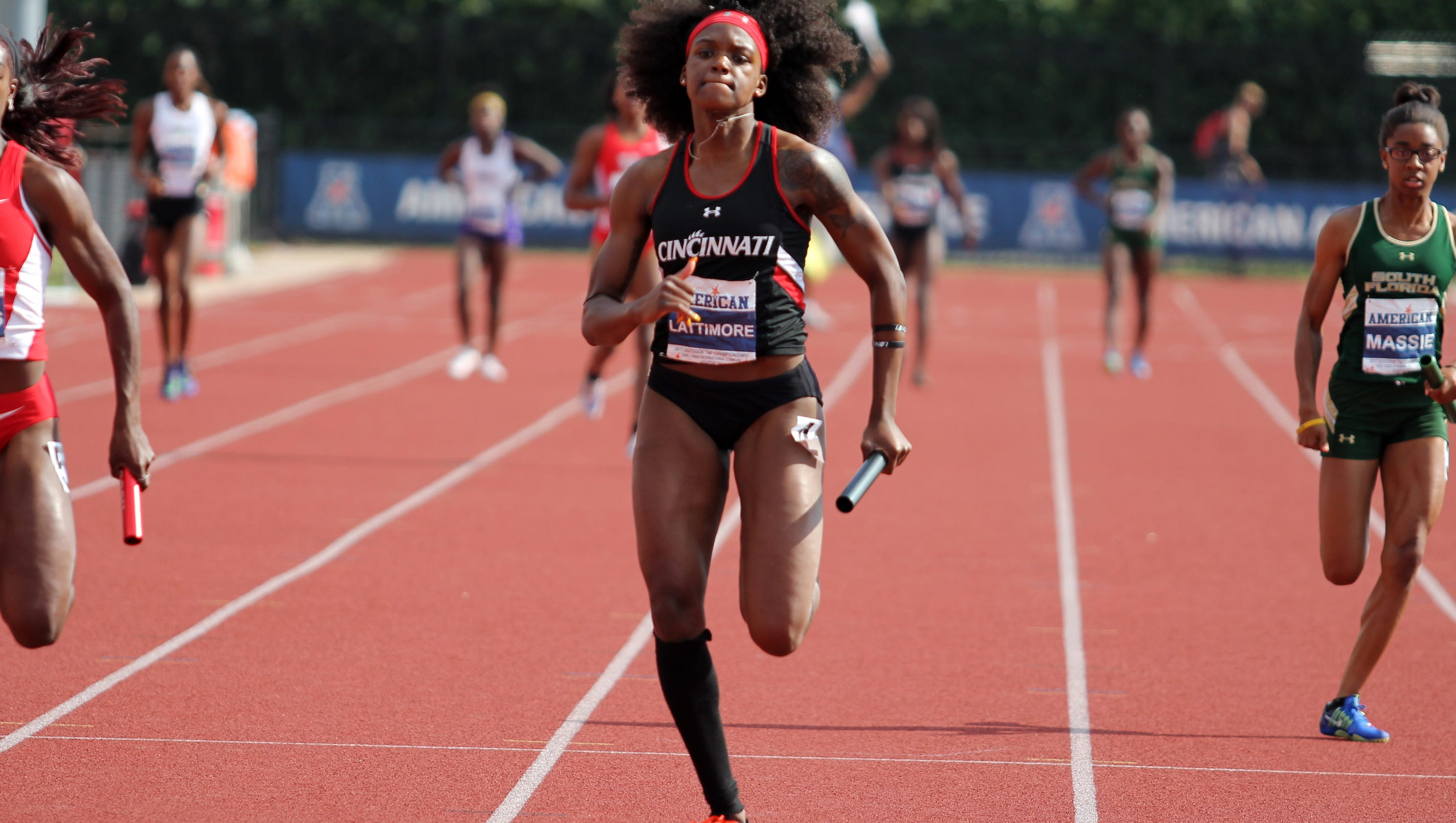 uc women win 2nd straight aac track title