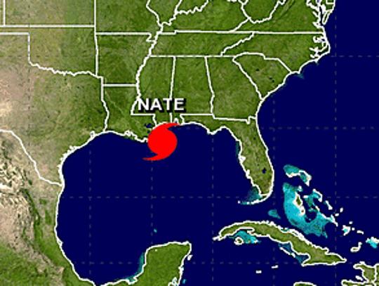Hurricane Nate made landfall around 7 p.m. Saturday