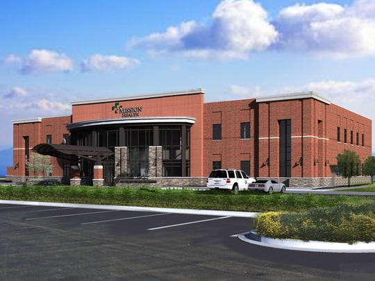 A rendering of Mission Health's expanded Clyde facility. The first floor is expected to be completed in late summer.