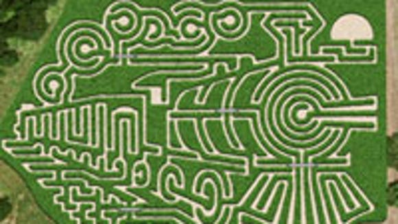 Steam train maze from 2012