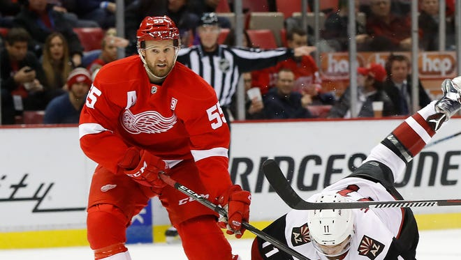Niklas Kronwall, C-plus: 2 goals, 11 assists, 13 points, minus-7 in 57 games. Still a smart player but hobbled by bad knee that neither surgery nor rehab will fix. Missed start of season and another chunk in January. Looked better down the stretch. But how much more can he give?