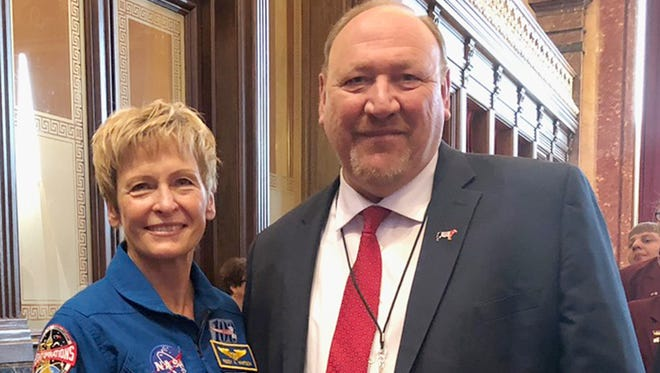 The Senate passed a resolution on Thursday to celebrate and recognize the accomplishments of Dr. Peggy Whitson. She is from Mount Ayr and has spent more time living and working in space than any other American. She has spent more than 665 days over three different missions aboard the International Space Station. Having her visit us in the Senate was an honor and we are grateful we could recognize her in this way.