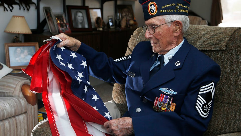 Retired Chief Master Sgt. Harold Bergbower, 94, who