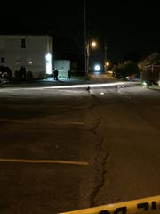 York City Police were on the scene of a shooting on East Mason Avenue, which runs parallel to the 800 block of East Market Street in York, Wednesday night.