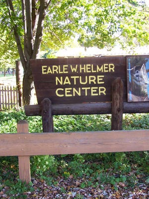 Earle W. Helmer Nature Center sign.