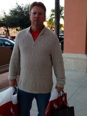 Fort Myers' Scott Algeo started shopping at 4 a.m. this morning.