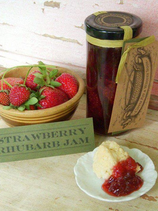 (2) Strawberry Rhubard Jam—Tunnel Mountain Crafts Dillsboro