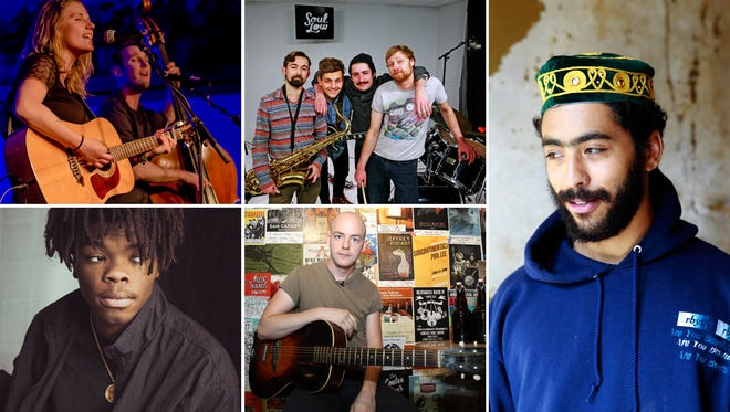 The Journal Sentinel's Wisconsin Bands to Watch for 2017 included (top left to right): Milwaukee folk duo Dead Horses; Milwaukee pop rock group Soul Low; Milwaukee rapper Milo; Eau Claire singer-songwriter Shane Leonard; and Madison rapper and singer Trapo.