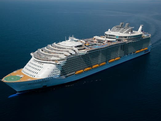 Explore The Beauty Of Caribbean: Wowza! The First Aerial Photos Of Largest Cruise Ship Ever