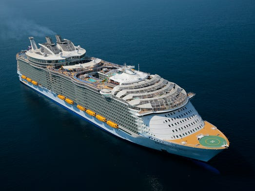 Wowza The First Aerial Photos Of Largest Cruise Ship Ever - First cruise ship in the world