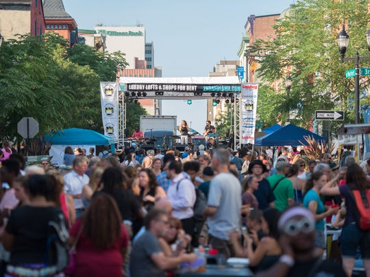 Several thousand music fans filled N. Market Street in Wilmington  during the fifth annual Ladybug Music Festival last summer.