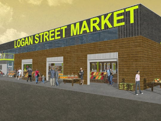 Rendering of Logan Street Market.