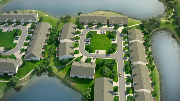 Artist's rendering of the Lakeside Cove at Hunter's Green development in Deerfield Township.