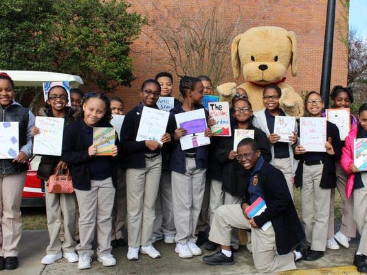 New Hope Elementary with Biscuit the Dog at YAC.jpg