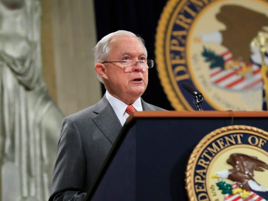 Attorney General Jeff Sessions speaks during a Religious