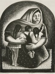 """Mexican Mother"" by Jerry Bywaters, 1936."