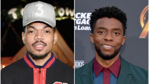 Chance the Rapper, left, and Chadwick Boseman delivered