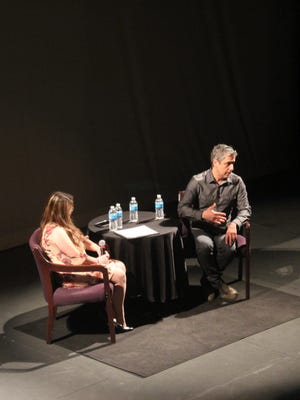 Author Reza Aslan spoke about Islamophobia at the Englert Theatre Wednesday night as part of the University of Iowa Lecture Committee series.