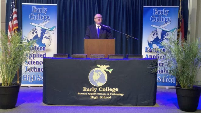 Allen Quinn addressed this year's graduates in a pre-recorded Graduation Celebration that was played at 6 p.m., May 15 on the school website and social media outlets which was the original graduation date for the Class of 2020.