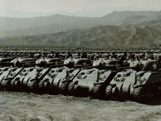 Tanks at Palm Village Motor Pool.
