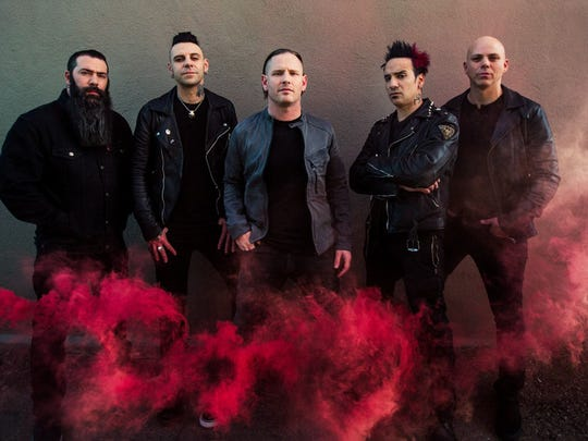 Stone Sour performs at Concrete Street Amphitheater on Saturday.