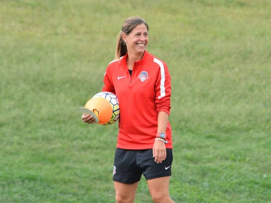 New Sky Blue FC coach Denise Reddy is a New Jersey