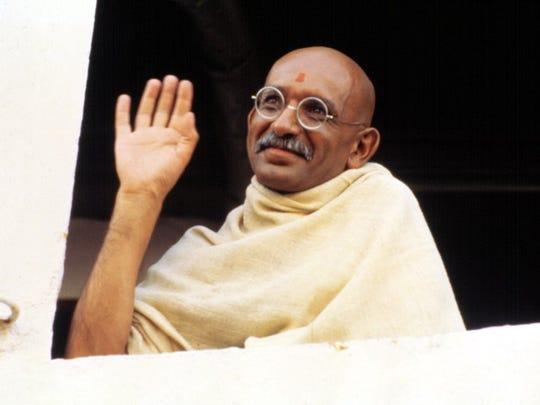 Ben Kingsley won an Oscar for his portrayal of Mohandas Gandhi.