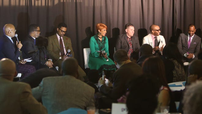 """The cast of """"Preachers of Detroit"""" answered questions about their new series at the Charles H. Wright Museum of African-American History in Detroit."""