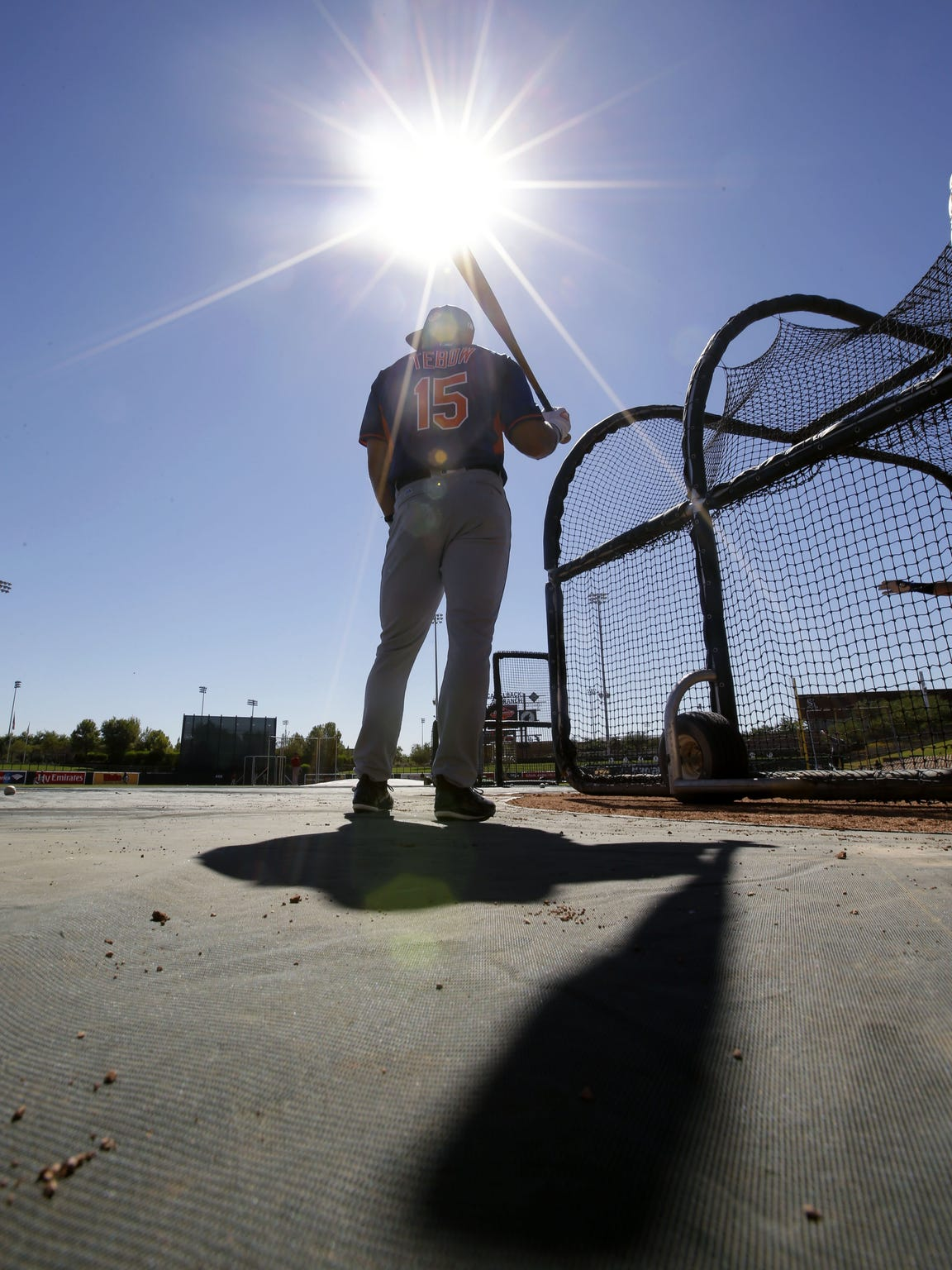 Scottsdale Scorpions outfielder Tim Tebow at batting