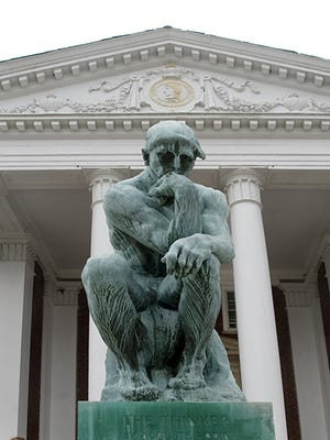 The Thinker statue at University of Louisville.
