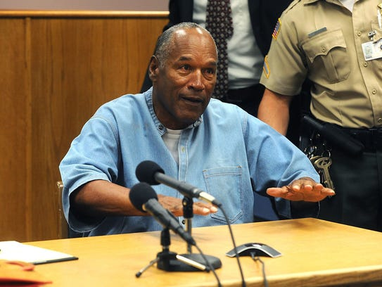 O.J. Simpson reacts when he learned in July that he