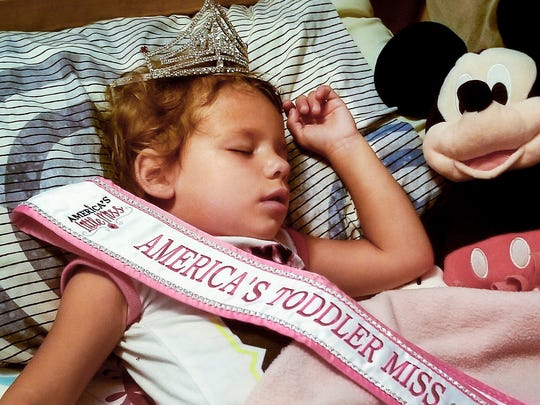 After a busy weekend in Orlando, Florida, 2-year-old