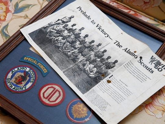 Some of WWII veteran and 'Alamo Scout' Jack Geiger's