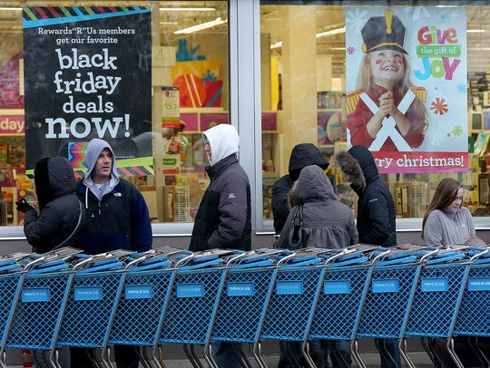 The Toys R Us in Castleton has drawn lines of early Black Friday shoppers in the past. Toys R Us stores will be open for 30 consecutive hours starting at 5 p.m. on Thanksgiving.