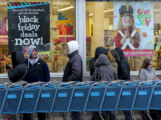 Early Black Friday shoppers were first into the Toys R Us in Castleton.