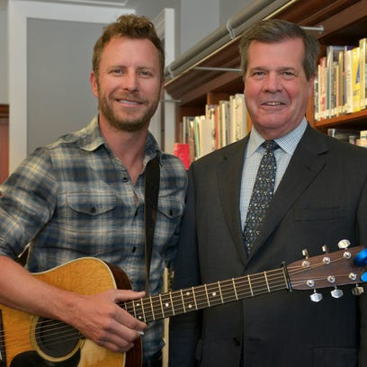 Dierks Bentley opened for Mayor Karl Dean at Dean's