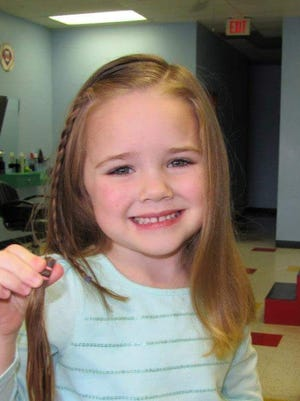 Brielle Marie Eavis, now 6, pictured here at 3