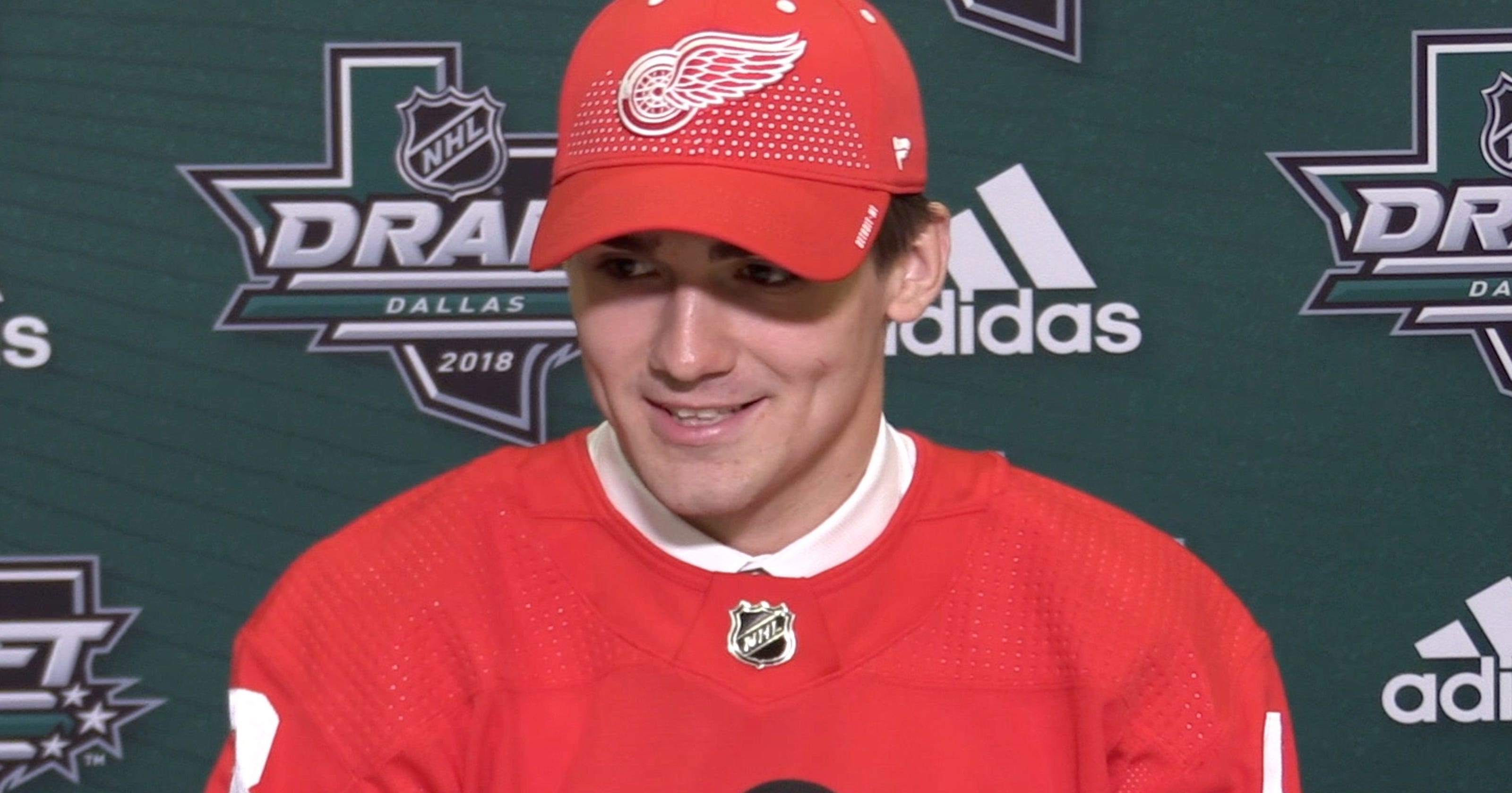 3e3a14d2c Video  Red Wings top draft pick Filip Zadina talks with the media
