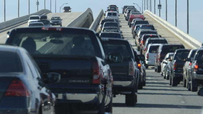 A car accident in the westbound lanes on 98 is causing traffic in Gulf Breeze
